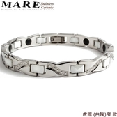 【MARE-白鋼&陶瓷】系列:虎踞 (白陶)窄  款