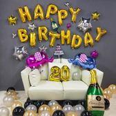 成人生日快樂派對裝飾氣球女男朋友浪漫驚喜場景布置兒童用品套餐