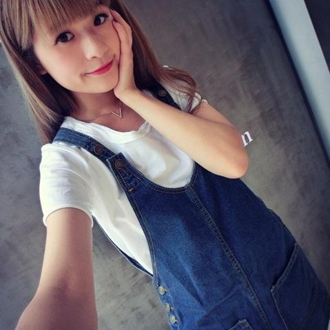 吊帶裙-春夏新款韓國寬鬆顯瘦潮流口袋連身牛仔裙69i3【巴黎精品】