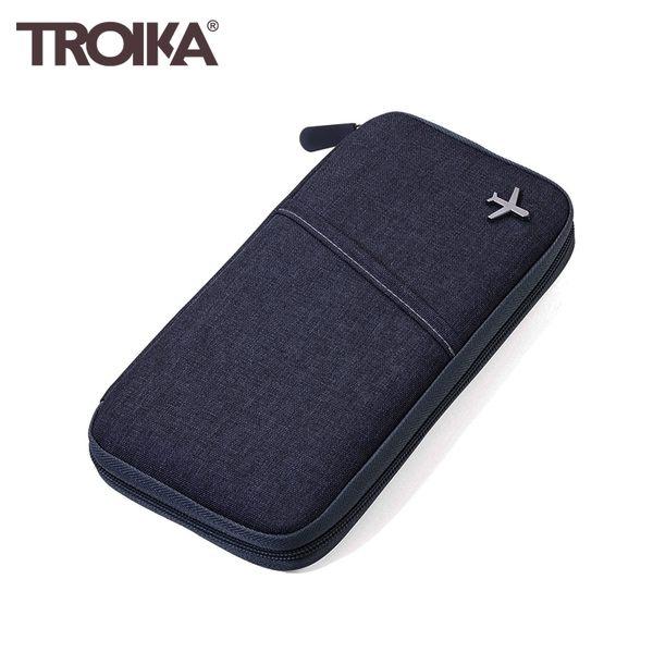 又敗家@德國TROIKA防感應護照包TRV20/GY防盜卡夾防感應錢包防盜刷包防RFID-NFC側錄多功能護照包