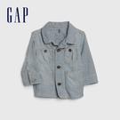 Gap男嬰時尚條紋設計翻領上衣538787-藍色細條紋