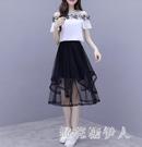 2020夏裝新款套裝超仙甜美洋氣很仙的休閒兩件套流行雪紡連身裙 yu12697【棉花糖伊人】
