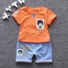 童裝夏裝兒童兩件組嬰幼兒夏天衣服1-5歲寶寶帥氣短袖T恤褲子
