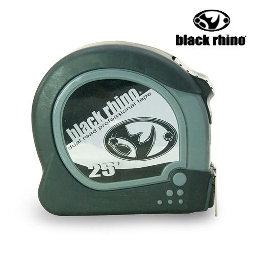 LIKA夢 美國黑犀牛Black Rhino專業手工具 台灣製造 Dual/Metric Tape 25英呎/7.5M 雙面捲尺 #024