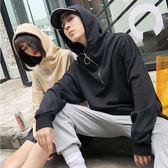 經典流行日系街頭拉鍊造型連帽T恤