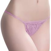 思薇爾-羽霓精靈系列M-XL蕾絲刺繡低腰丁字褲(霓煙紫)