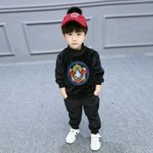 男童秋裝套裝新款兒童男帥氣金絲絨兩件套洋氣加絨寶寶冬裝潮  TS2271【愛尚生活館】