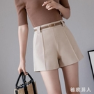 西裝短褲女夏季2020新款韓版百搭時尚寬鬆學生高腰a字休閒褲 LF6136【極致男人】
