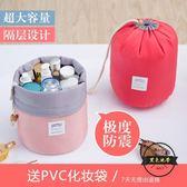 洗漱包 韓國旅行大容量防水化妝包可愛簡約女士便攜清  ~黑色地帶