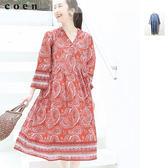 出清 變形蟲 佩斯利 印花 長洋裝 Market免運費 日本品牌【coen】