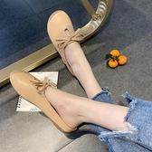 半拖鞋奶奶鞋包頭涼拖鞋韓版平底懶人半拖鞋女外穿  【快速出貨】