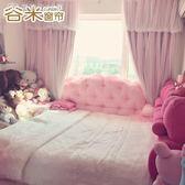 公主風窗簾粉色窗紗蕾絲臥室遮光成品雙層布飄窗 【創時代3c館】