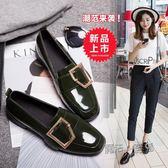 牛津鞋 原宿風單鞋女粗跟小皮鞋學生時尚韓版牛津鞋方頭女鞋  魔法鞋櫃