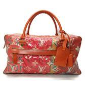 LV 粉色塑料水彩印花手提包 旅行袋 WEEKENDER PM 【二手名牌BRAND OFF】