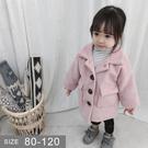 韓版女童寶寶外套。ROUROU童裝。秋冬女童中小童寶寶純色毛呢外套 大衣 0243-245