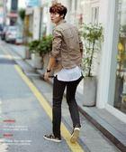 韓國 水洗 夾克 穿搭 短版 多層次外套 復古 卡其