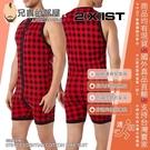 美國 2XIST 經典美式風格格紋 時尚男人純棉連身居家服 Essential Fashion Bike Suit Plaid