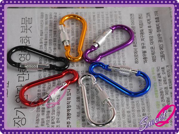 ☆韓妮小舖☆【EX1332】70mm鋁製葫蘆型登山扣環 登山扣 鑰匙圈 掛鉤 掛勾 菇菇筆