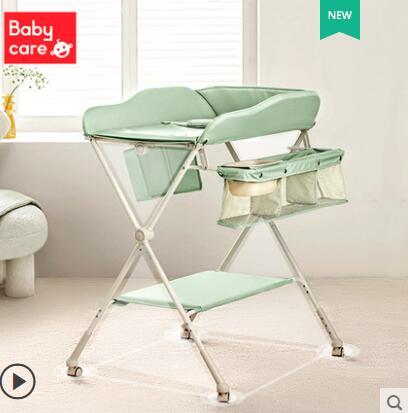 尿布臺嬰兒護理臺新生兒多功能可摺疊可移動寶寶床嬰兒床 NMS名購新品
