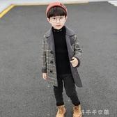 外套秋冬款格子尼子大衣兒童羊羔毛寶寶妮子洋氣小童裝潮 千千女鞋