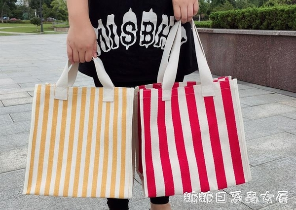 帆布袋-韓國kbp帆布包單肩學生大容量環保便攜購物袋防水買菜手提袋女包 糖糖日繫