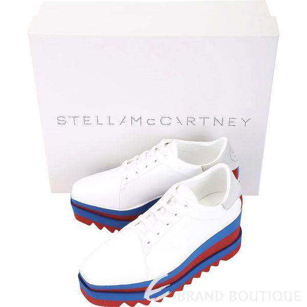 Stella McCartney Elyse 拼色鋸齒厚底紳士鞋(白色) 1830560-20