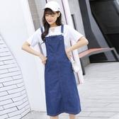 NiCELIFE 韓系 牛仔背心裙【D2017】 牛仔 背帶 連身裙 牛仔裙 吊帶裙 韓 牛仔洋裝
