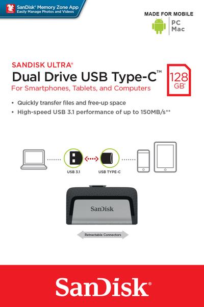 SanDisk 128GB 128G Ultra USB TYPE-C 150MB/s【SDDDC2-128G】SDDDC2 USB 3.1 OTG 雙用隨身碟