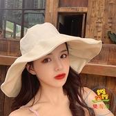遮陽帽女漁夫帽韓版百搭薄款小清新防曬紫外線【樂淘淘】