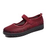 夏季老北京布鞋老人媽媽女鞋軟底防滑透氣網鞋中老年大碼奶奶鞋 『居享優品』