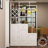 屏風櫃客廳實木簡約玄關鞋櫃組合隔斷屏風門廳櫃餐廳置物酒櫃收納儲物櫃XW