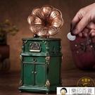 復古存錢筒經典留聲機擺件樹脂硬幣零錢儲蓄...