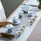 吉祥龍魚陶瓷蓋碗茶杯 青花瓷茶碗大號三才碗家用三才杯功夫茶具