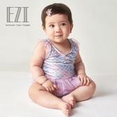 弈姿兒童裝游泳衣 女童寶寶連體泳衣 小中童三角公主裙式溫泉泳裝