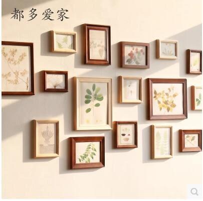 歐式原創實木16框 組合照片牆 相片牆創意組合相框掛牆