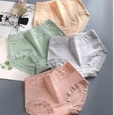 少女士內褲女純棉100%全棉襠抗菌大碼中腰蕾絲無痕收腹透氣三角褲