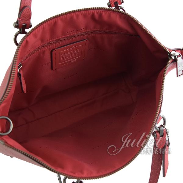 茱麗葉精品【專櫃款 全新現貨】COACH 58874 PRAIRIE 荔枝牛皮手提兩用包.紅