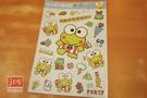 KeroKeroKeroppi 大眼蛙 可愛造型大貼紙 透明貼紙  952767