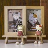 雙十二狂歡可愛畫框擺台相框兒童5/6寸照片【洛麗的雜貨鋪】