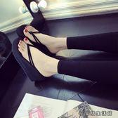 人字拖女夏坡跟時尚外穿涼拖女夾腳