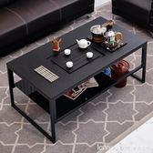 茶桌簡約現代創意不銹鋼大理石泡茶台自動上水辦公茶几  IGO