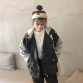皮衣外套 假兩件網紅皮衣外套女2019秋冬新款韓版學生寬鬆百搭開衫夾克上衣 雙12