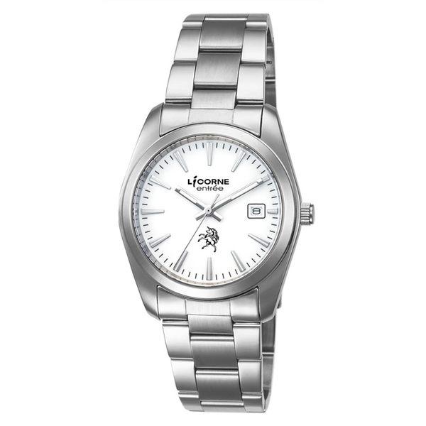 【LICORNE】恩萃 Entrée 復古簡約時尚設計都市腕錶 (白 LT083BWWI)
