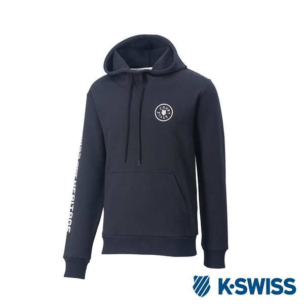 K-SWISS High Front Hoodie 刷毛連帽上衣-男-黑