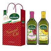 【Olitalia奧利塔】葡萄籽油+葵花油禮盒組(1000ml各1)