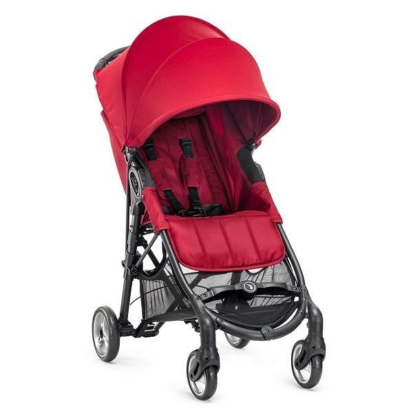 美國 baby jogger City Mini Zip Fold 單手3D立體秒收 輕運動推車 紅色