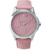 GUCCI古馳 G-TIMELESS 粉紅蜜蜂手錶-YA1264030/38mm