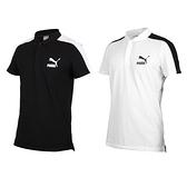 PUMA 男短袖POLO衫(短袖上衣 慢跑 高爾夫 網球 羽球 休閒 歐規 免運 ≡排汗專家≡