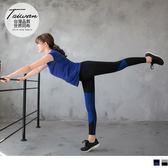 《KS0061》台灣品質.世界同布~花紗拼接運動九分褲/瑜伽褲.2色 OrangeBear