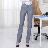 大碼 職業西褲女春夏新款正裝長褲高腰直筒西裝褲小腳大碼褲 SG4299【潘小丫女鞋】